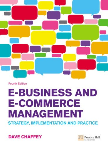 Test Bank For E-Business and E-Commerce Management: Strategy, Implementation and Practice (4th Edition) 4th Edition
