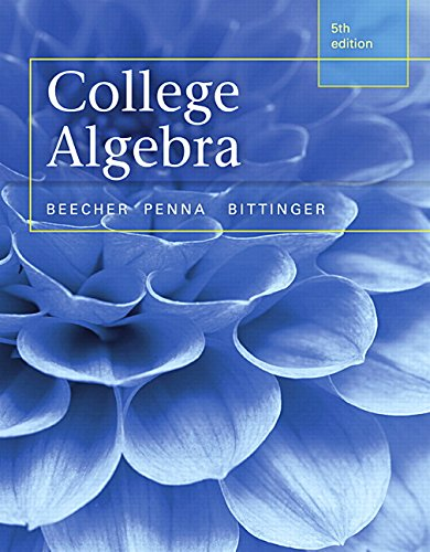 Test Bank For College Algebra (5th Edition) 5th Edition