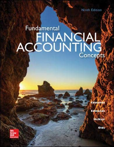 Test Bank For Fundamental Financial Accounting Concepts, 9th Edition 9th Edition