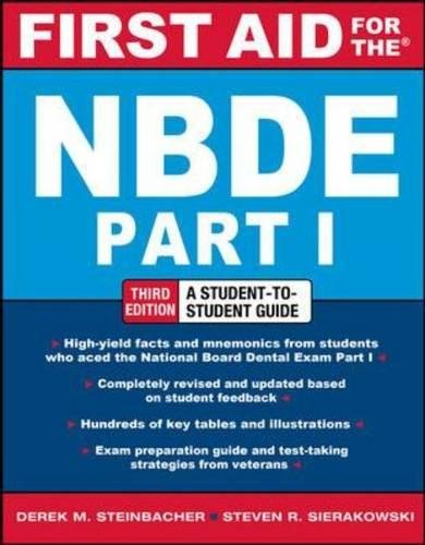 Test Bank For First Aid for the NBDE Part 1, Third Edition (First Aid Series) 3rd Edition