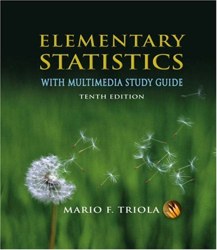 Test Bank For Elementary Statistics With Multimedia Study Guide (10th Edition) 10th Edition