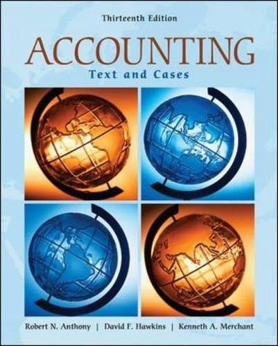 Test Bank For Accounting: Texts and Cases 13th Edition
