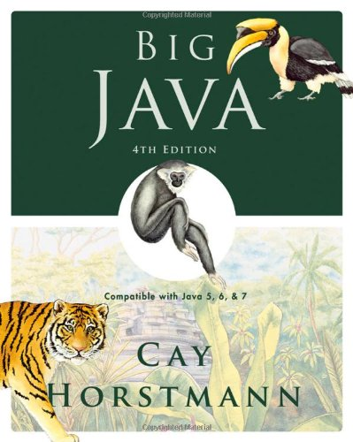 Test Bank For Big Java: Compatible with Java 5, 6 and 7 4th Edition