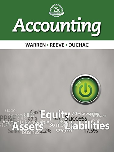 Test Bank For Bundle: Accounting, 25th + CengageNOW™, 2 term (12 months) 25th Edition
