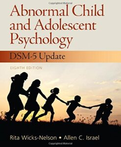 Test Bank For Abnormal Child and Adolescent Psychology 8th Edition