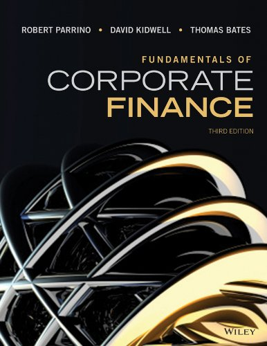 Test Bank For Fundamentals of Corporate Finance 3rd Edition