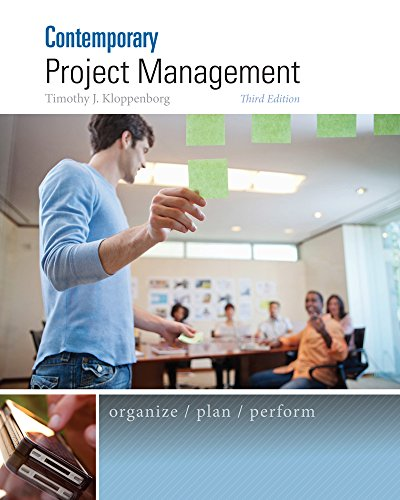 Test Bank For Contemporary Project Management 3rd Edition