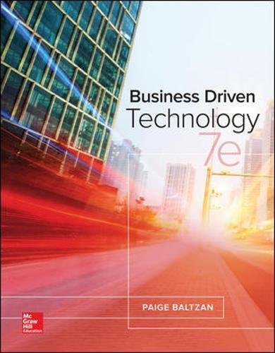 Test Bank For Business Driven Technology 7th Edition