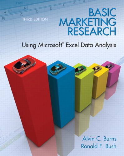 Test Bank For Basic Marketing Research: Using Microsoft Excel Data Analysis, 3rd Edition 3rd Edition