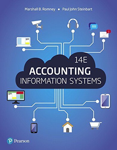 Test Bank For Accounting Information Systems (14th Edition) 14th Edition