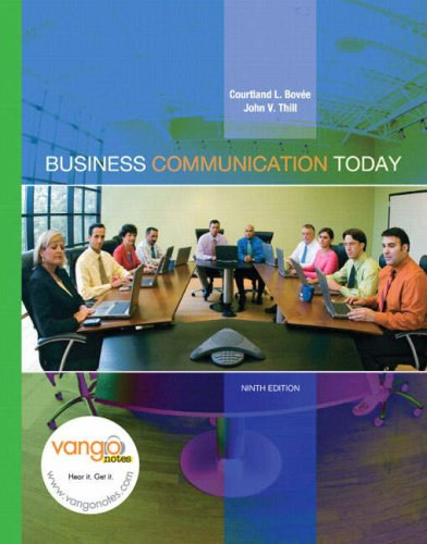 Test Bank For Business Communication Today (9th Edition) 9th Edition