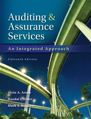 Test Bank For Auditing and Assurance Services with ACL Software CD (15th Edition) 15th Edition