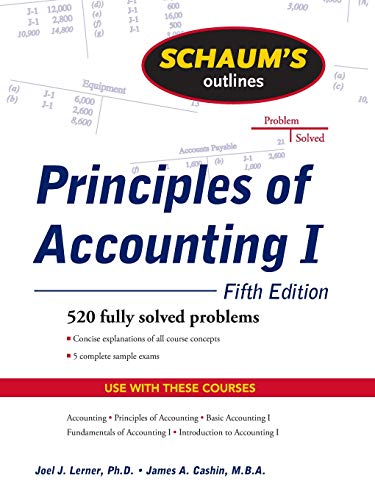 Test Bank For Schaum's Outline of Principles of Accounting I, Fifth Edition 5th Edition
