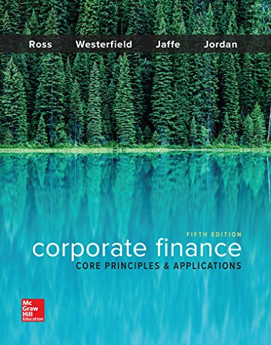 Test Bank For Corporate Finance: Core Principles and Applications (Mcgraw-hill Education Series in Finance, Insurance, and Real Estate) 5th Edition