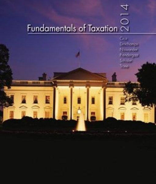 Fundamentals of Taxation 2014 7th Edition Cruz Solutions Manual