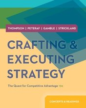 Crafting and Executing Strategy Concepts and Readings Thompson 19th Edition Test Bank
