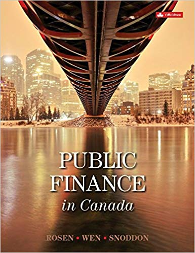 Solution Manual for Public Finance in Canada 5th Edition