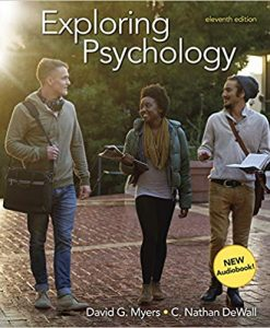 Test Bank for Exploring Psychology Eleventh Edition