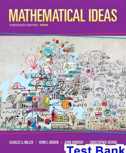 Mathematical Ideas 13th Edition Miller Test Bank