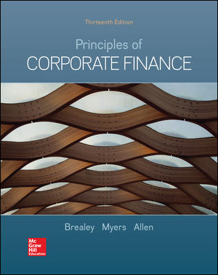 Test Bank for Principles of Corporate Finance 13th by Brealey