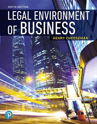 Solution Manual for Legal Environment of Business 9th Edition Cheeseman ISBN-10: 0135173957, ISBN-13: 9780135173954 ISBN-10: 0135228654, ISBN-13: 9780135228654