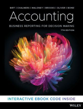 Test Bank for Accounting: Business Reporting for Decision Making 7th Edition Birt ISBN: 9780730369325