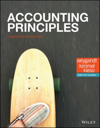 Test Bank for Accounting Principles 13th Edition Weygandt ISBN: 1119411017, ISBN: 9781119411017