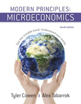 Solution Manual for Modern Principles: Microeconomics, 4th Edition, Tyler Cowen, Alex Tabarrok, ISBN-10: 1319098762, ISBN-13: 9781319098766