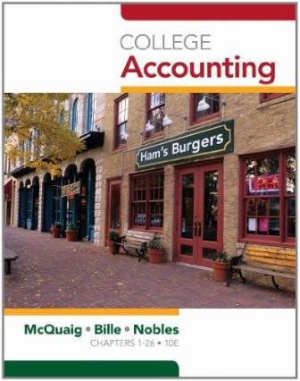 Test Bank for College Accounting, Chapters 1-12, 10th Edition, Douglas J. McQuaig, ISBN-10: 1439038783, ISBN-13: 9781439038789