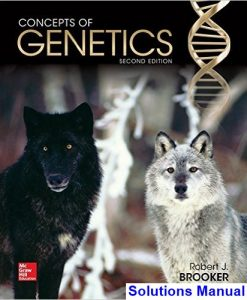 Concepts of Genetics 2nd Edition Brooker Solutions Manual
