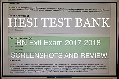 Hesi Exit Exam RN 2017-2018 Most Recent – Updated