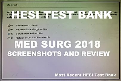 Hesi Med Surg RN 2018 Most Recent – Updated