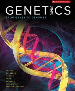 Test Bank for Genetics, 2nd Canadian Edition, Leland Hartwell, Michael L. Goldberg, Janice Fischer, Leroy Hood, Charles (Chip) Aquadro, Jim Karagiannis, Maria Papaconstantinou, ISBN10: 1259370887, ISBN13: 9781259370885